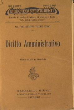 Diritto amministrativo: Vaccaro Russo Giuseppe