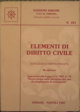 Elementi di diritto civile (istituzioni di diritto: AA.VV.