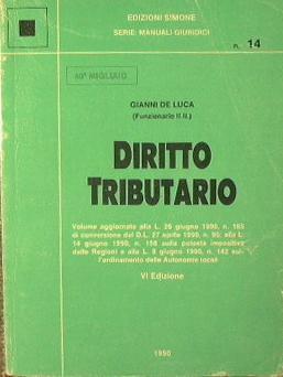 Diritto tributario: De Luca Gianni