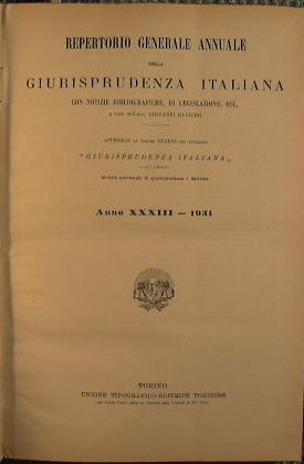 Repertorio generale annuale della giurisprudenza Italiana: AA.VV.