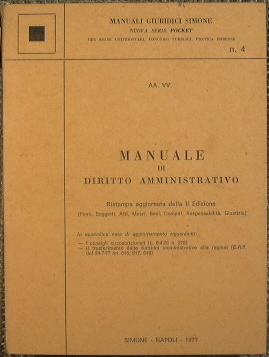 Manuale di Diritto Amministrativo.: AA.VV.
