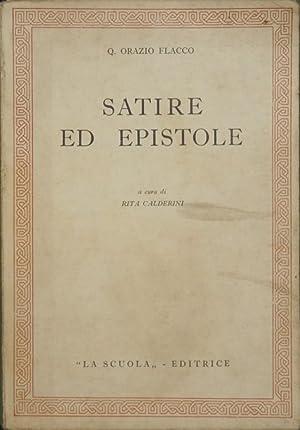 Satire ed epistole: Flacco Orazio Q.