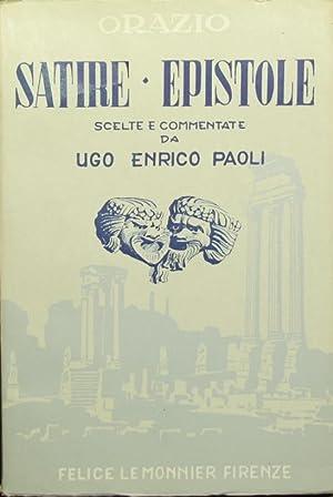 Satire ed epistole: Orazio