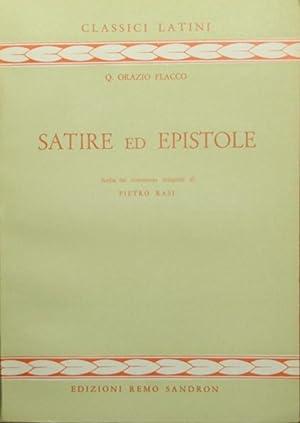 Satire ed epistole: Orazio Flacco Q.