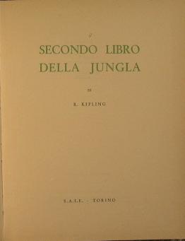 Il secondo libro della jungla: Kipling Rudyard