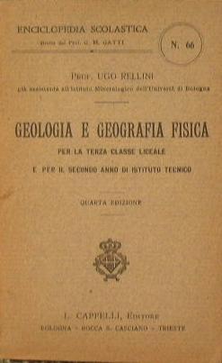 Geologia e geografia fisica: Rellini Ugo