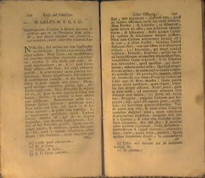 Epistolarum ad Familiares: Cicerone Marco Tullio ( M.Tullii Ciceronis )