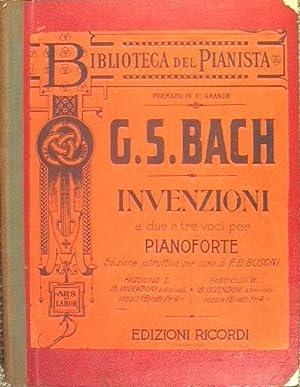 Invenzioni a due e tre voci per: Bach - Czerny