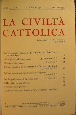 La Civiltà Cattolica: AA.VV.