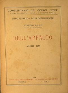 Dell'Appalto. Art.1655-1677: Rubino Domenico