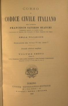 Corso di codice civile italiano: Bianchi Francesco Saverio