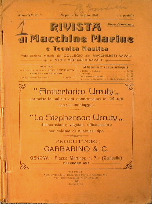 Rivista di macchine marine e tecnica nautica: AA.VV.