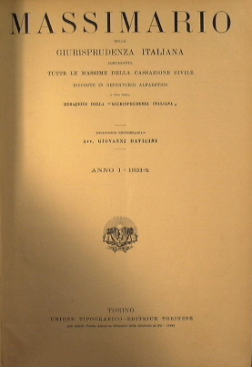 Massimario della giurisprudenza italiana: Davicini Giovanni