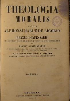 Theologia Moralis: De Ligorio Alphonsi