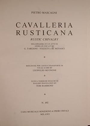 Cavalleria rusticana: Mascagni Pietro