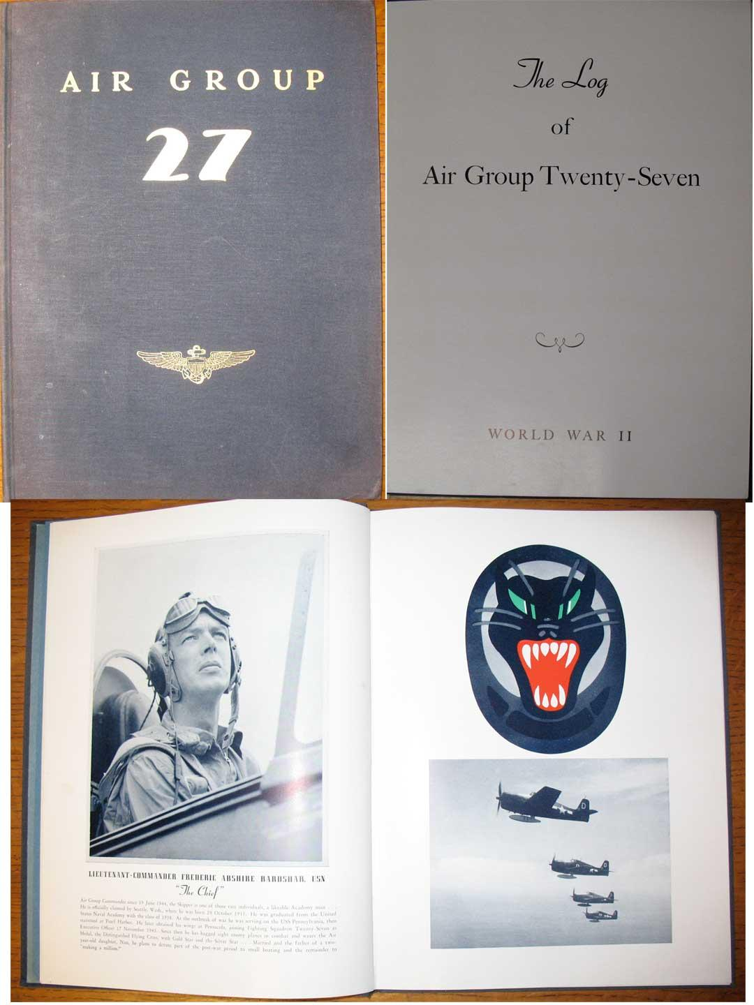 LOG OF AIR GROUP TWENTY-SEVEN: World War Two: (Anonymous).