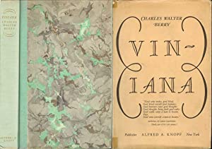 VINIANA: Berry, Charles Walter. Introduction by H. Warner Allen