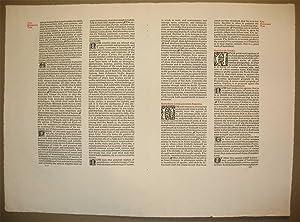 Original bifolium from the Kelmscott Press edition of The Works of Geoffrey Chaucer.: Chaucer, ...