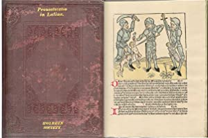 PRONOSTICATIO IN LATINO. A Reproduction of the First Edition (Printed at Strasburg, 1488).: ...