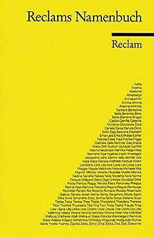 Reclams Namenbuch : d. wichtigsten dt. u.: Herrle, Theo (Herausgeber):