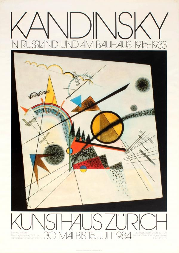 Advertising Poster Kandinsky Russia Bauhaus Exhibition Zurich: Wassily Kandinsky