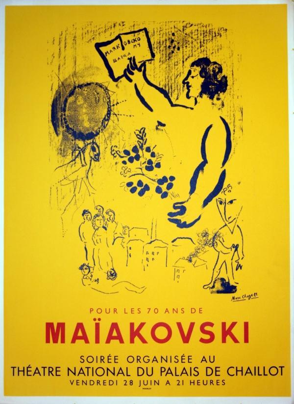 Advertising Poster Pour les 70 ans de: Marc Chagall