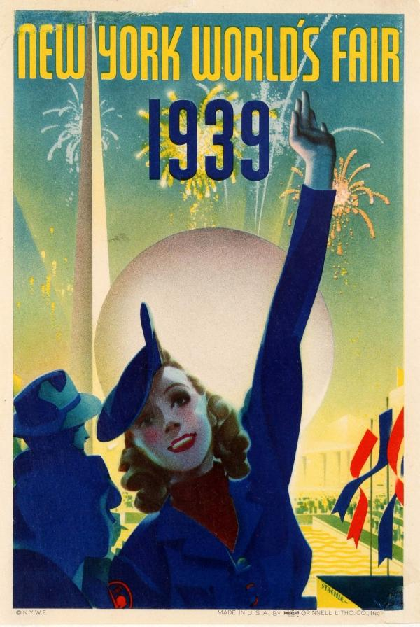 Art Deco Poster New York.New York World S Fair 1939 Art Deco