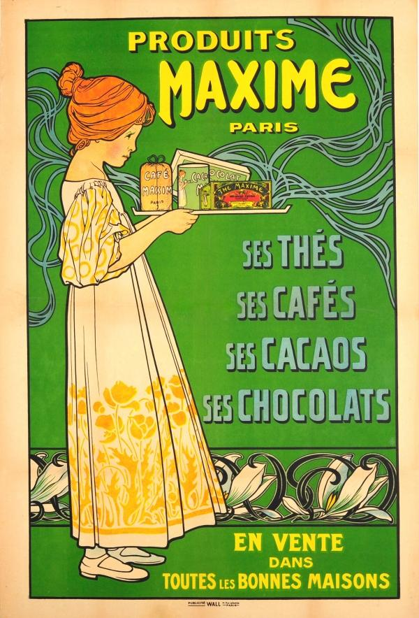 French vintage chocolate advertisement sorry, that
