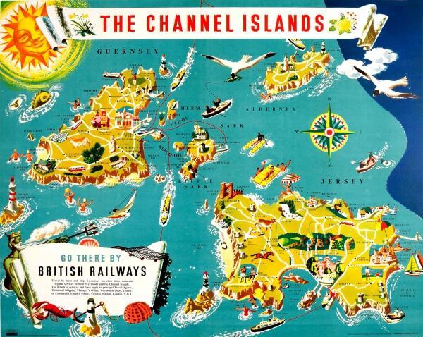 Map Of Uk Including Jersey.Channel Islands Guernsey Alderney Sark
