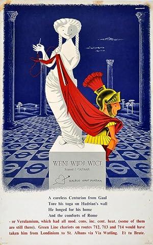Advertising Poster LT Roman Centurion London Underground: Bainbridge