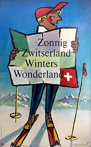 Ski Poster Switzerland Winter Wonderland: P Monnert