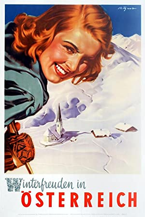 Ski Poster Winter Pleasures in Austria: Aigner