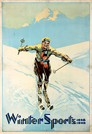 Ski Poster Winter Sports Alps