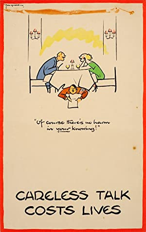 Careless Talk Costs Lives Dinner Table WWII: Fougasse (Cyril Kenneth