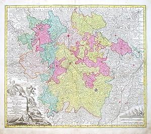 Mappa Geographica, in qua Ducatus Lothariangiae et: Lotter, Tobias Conrad