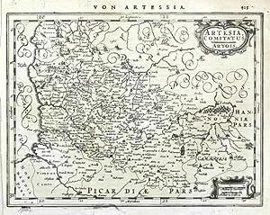 Artesia, Comitatus. Artois: Janssonius, Joannes