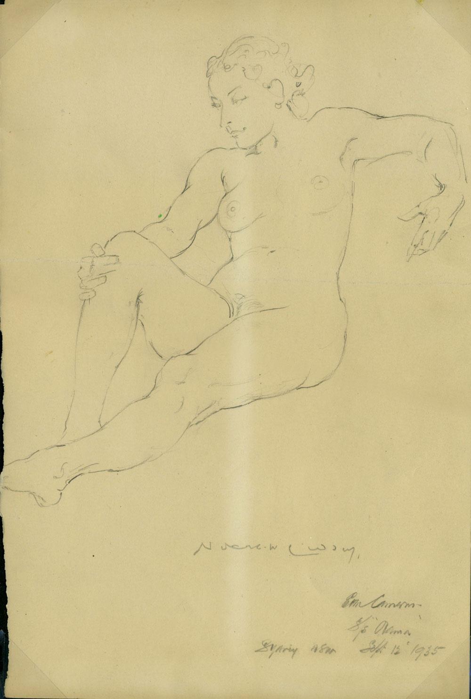 Untitled Nude 1935 [Pencil Sketch] Lindsay, Norman