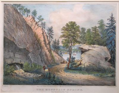 The Mountain Spring. Near Cozzen's Dock, West Point: Palmer, F.F. Currier & Ives