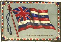 Felt cigar flag of South Australia South Australia These felts or blanket issues were complimentary gifts given to the purchaser of tobacco products, usually cigars, by the American Tobacco Company. Pr