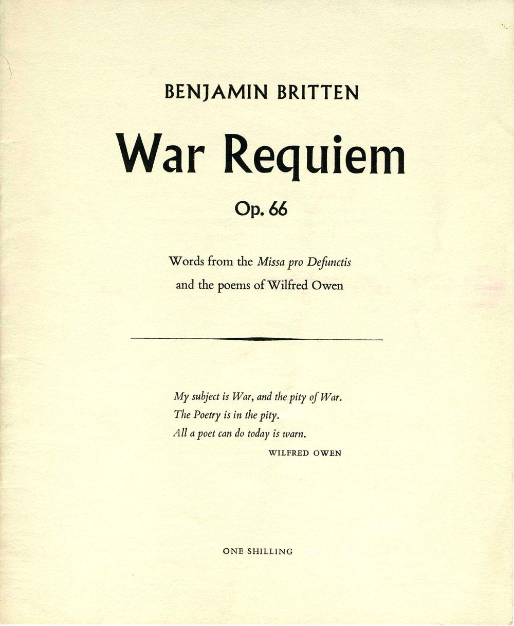 Benjamin Britten War Requiem Op 66 Words