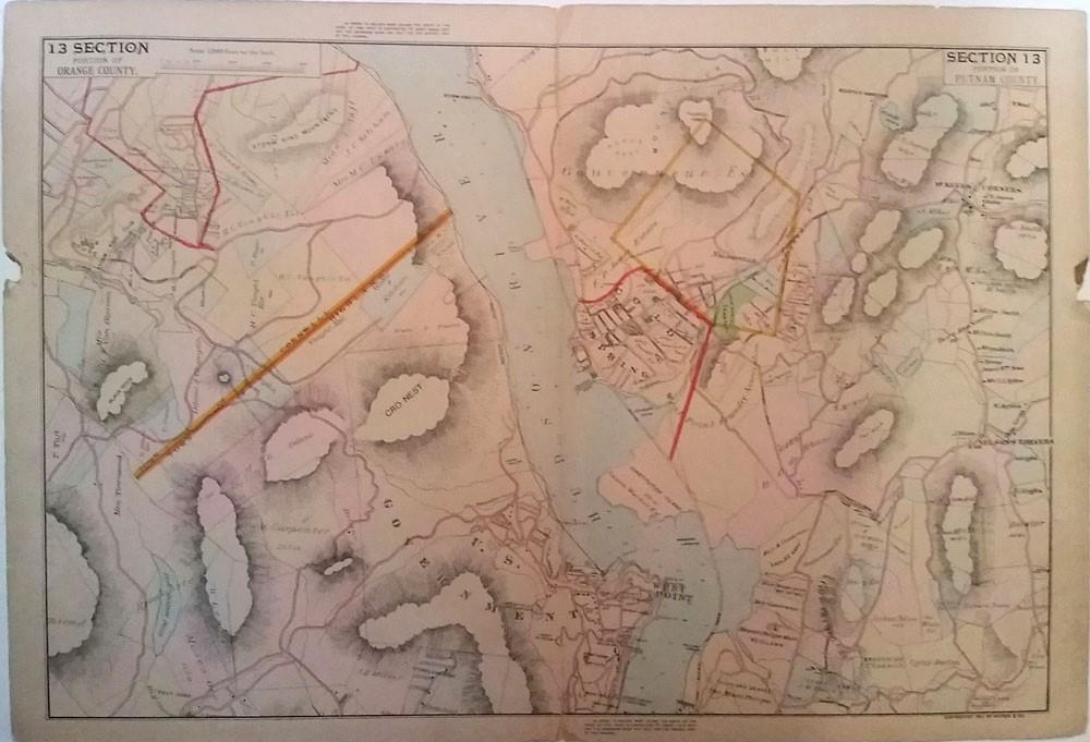 Garrison New York Map.Map Of Cold Spring Garrison West Point Storm King Section 13