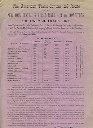 The American Trans-Continental Route via New York Central & Hudson River R. R. and Connections, t...
