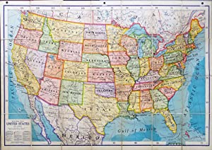 Special Ranally Political United States Scale 1:3,168,000 One Inch = One Statue Miles. Large fold...