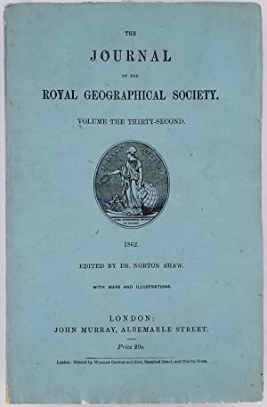 Journal of the Royal Geographical Society Volume 32, 1862