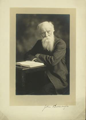 Signed photographic portrait of John Burroughs