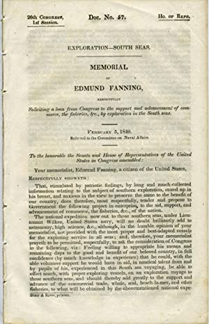 Memorial of Edmund Fanning, respectfully soliciting a loan from Congress to the support and advan...