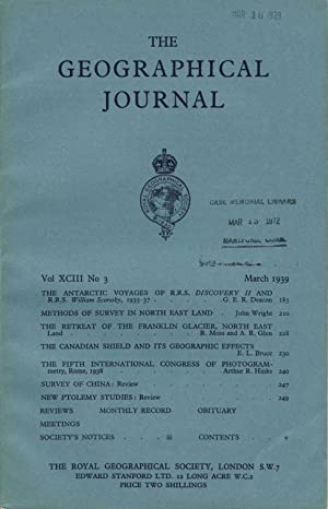 The Journal of the Royal Geographical Society, 'The Antarctic Voyages of R. R. S. Discovery II an...