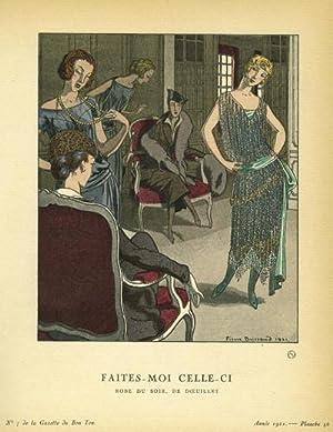 Faites- Moi Celle-Ci: Robe du Soir, De Doeuillet Print from the Gazette du Bon Ton: Brissaud, ...
