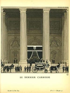 Le Dernier Carrosse. Print from the Gazette du Bon Ton
