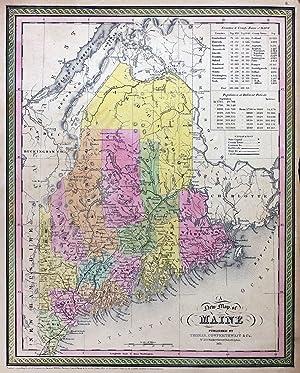 Map of Maine: Thomas, Cowperthwait & Co